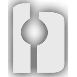Tambourine Ø17cm single jingle with stainless steel jingles