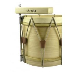 Tunable Ø20 cm tambourine calfskin, wooden, double jingle