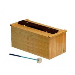 Bubinga woodblock, one groove